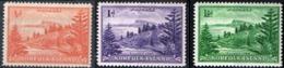 NORFOLK ISLAND, PANORAMI, LANDSCAPES, 1947, FRANCOBOLLI NUOVI (MNH**) Scott 1-3 - Isola Norfolk