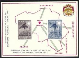 Cob LX25 Fraçais/Nerlandais +LX26 Nerlandais/Français ,Feuillet De Luxe  Europa 1957 - Libretti Di Lusso