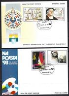 Malta,stationary-Postal Card Genova 92-NAPOSTA DORTMUND 1993, Used - 1993