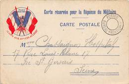 P-T-18-5476 : CARTE FRANCHISE MILITAIRE. CORRESPONDANCE DES ARMEES. DRAPEAUX. POSTES BUREAU FRONTIERE - Marcophilie (Lettres)
