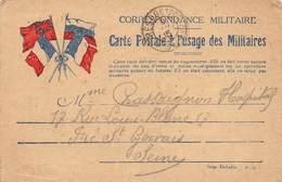 P-T-18-5477 : CARTE FRANCHISE MILITAIRE. CORRESPONDANCE DES ARMEES. DRAPEAUX. - Marcofilia (sobres)