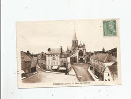PUISEAUX (LOIRET) PLACE DU MARTROI (EGLISE RESTAURANT) - Puiseaux