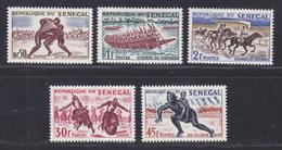 SENEGAL N°  205 à 209 ** MNH Neufs Sans Charnière, TB (D7580) Sports Et Divertissemenr Indigènes - 1961 - Sénégal (1960-...)