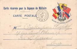 P-T-18-5480 : CARTE FRANCHISE MILITAIRE. CORRESPONDANCE DES ARMEES. DRAPEAUX. TRESOR ET POSTES 58 - Marcofilia (sobres)