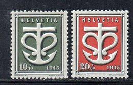 294/1500 - SVIZZERA 1945 , Unificato N. 403/404  ***  MNH - Schweiz