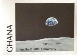 Ghana 1989 1st Moon Landing  20th. Anniv. S/S Imperf. - Ghana (1957-...)