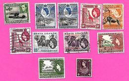 3260  --  KENYA-OUGENDA  --  1949-54-60   Lot  De  Timbres  Neufs  &  Oblitérés - Kenya (1963-...)