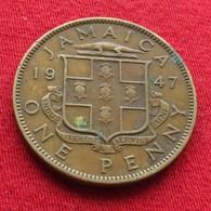 Jamaica 1 Penny 1947  Jamaique Jamaika Wºº - Jamaique