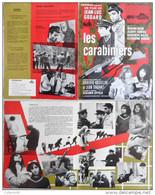 Brochure Promo Manuel D'exploitation Film  Les Carabiniers Jean-Luc Godard 1963 - Cinema Advertisement