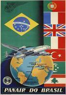 Brazil Aviation Postcard Panair Do Brasil 1950 - Reproduction - Advertising