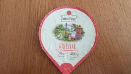 Lithuania Litauen Sour Cream 30% 400g. - Milk Tops (Milk Lids)