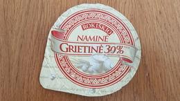 Lithuania Litauen Sour Cream 30% - Milk Tops (Milk Lids)