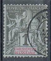OCEANIE N°1  Oblitération De Papeete, Tahiti - Used Stamps