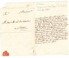 Marine Royale 1768..., Chevalier Des Roches, D'Hector Capitaine Du Sphinx, 6 Lettres,  20 Pages - Documents Historiques