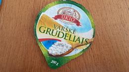 Lithuania Litauen Grainy Curd 200g - Milk Tops (Milk Lids)