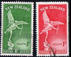 NUOVA ZELANDA, NEW ZEALAND, SANITA, HEALTH, EROS, 1947, FRANCOBOLLI USATI YT 295,296   Scott B30,B31 - Nuova Zelanda