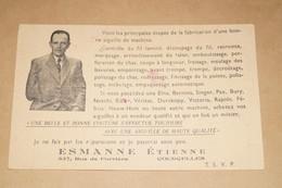 Carte Postale,photo Courcelles , Esmanne Etienne ,carte Publicitaire - Courcelles