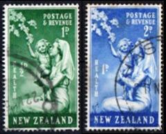 NUOVA ZELANDA, NEW ZEALAND, SANITA, HEALTH, 1949, FRANCOBOLLI USATI YT 303,304   Scott B34,B35 - Nuova Zelanda
