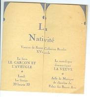 ULB Cercle De Philosophie Et Lettres La Nativité Avec Groupe Théâtral Université De Liège - Programmi