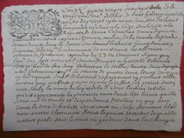 PAPIER TIMBRE GENERALITE TOULOUSE 1697 MANUSCRIT ESPERAUSSES TARN - Seals Of Generality