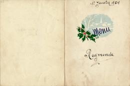 Menu : Jour De L'an, 1er Janvier 1954, Dany, Arbois-Blanc, Porto-flip, Grand-Marnier..., 2 Scans - Menus