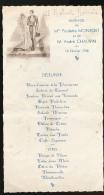 Menu : Février 1946, Mariage, Paulette Monfort Et André Chauvin, Pommerolle, Montbazillac, Entre Deux Mers, 2 Scans - Menus