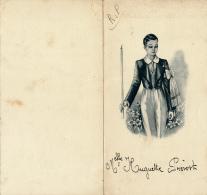 Menu : Communion, Juin 1945, Huguette Prevost, Menu Midi Et Soir, Dessins De Communiant, 2 Scans - Menus