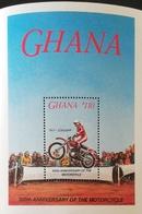 Ghana 1985 Motorcycle  Centenary S/S - Ghana (1957-...)