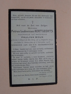 DP Petrus AERTGEERTS (Paulina BOUX) Heyst-op-den-Berg 19 Aug 1842 - Antwerpen 1 Sept 1905 ( Zie Foto's ) ! - Décès