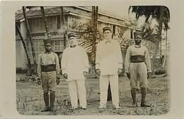 -ref X648- Militaires - Militaria - Carte Photo - Regiments - Regiment - Souvenir De Cotonou - Dahomey Juin 1932 - - Dahomey