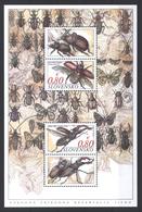 Slowakei Block 'Sitno-NSG, Käfer' / Slovakia M/s 'Sitno Natur Reserve, Beetles' **/MNH 2014 - Insekten
