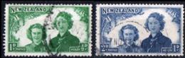NUOVA ZELANDA, NEW ZEALAND, SANITA, HEALTH, PRINCIPESSE, 1944,  FRANCOBOLLI USATI YT 267,268   Scott B24,B25 - 1907-1947 Dominion