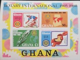 Ghana  1980 Rotary International ,70th. Anniv. S/S Imperf. - Ghana (1957-...)
