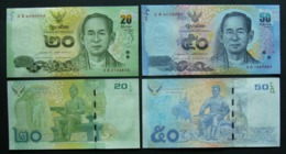 Tailandia 20 E 50 Baht 2015 UNC FdS Thailand - Sign. PHASEE, TRITATWORAKUL - Tailandia