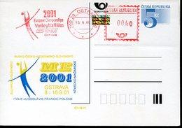 38091 Ceska Rep. Red Meter Freistempel Ema Ostrava 2001, European  Volleyball Champ. Ostrava - Volley-Ball