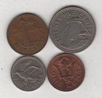 Barbades - 4 Monnaies - A/036 - Barbados