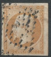 Lot N°44709  N°13Ab Bistre Orange, Oblit à Déchiffrer, Belles Marges Avec Voisin - 1853-1860 Napoleon III
