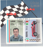 Ajman 1969 Automobilismo J. P. Wimille - Alfa Romeo 158 Sheet Perf. Nuovo Preoblt. - Ajman