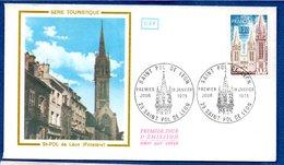 Enveloppe 1er Jour  / Série Touristique / Saint Pol De Léon / 18-1-75 - 1970-1979