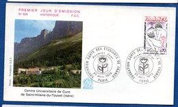 Enveloppe 1er Jour  / N 928 / Centre Universitaire De Cure De Saint Hilaire Du Touvet / Paris /  21-6-75 - FDC