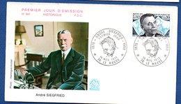 Enveloppe 1er Jour  / N 941 / André Sigfried / Le Havre /  15-11-1975 - 1970-1979
