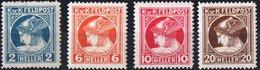 AUSTRIA, UFFICI ALL'ESTERO, OCCUPAZIONI, MERCURIO, 1916, FRANCOBOLLI NUOVI (MLH*) Mi. F49D, F50,F51,F52A  Scott MP1-MP4 - 1850-1918 Empire