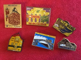 Lot De 6 Pin's La Poste - Mail Services