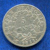 PIECE 5 FRANCS 1811K NAPOLEON EMPEREUR - France