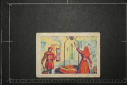 Chromos Et Images, Chromos Billet De Satisfaction Scolaire Ecole L'eau A Travers Les Ages Moyen Age Les Puits - Unclassified