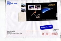 (750) Canada To Australia Commercial Cover - Mini-sheet On Cover (Star Trek) - Briefe U. Dokumente
