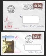2 ENVELOPPES FDC AVEC CACHETS Abbaye Du THORONET (VAR) Timbre N° 3020 YT 1996 - Cachets Commémoratifs