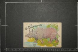 Chromos Et Images, Chromos Animaux  Le Rhinocéros Historique Au Verso - Unclassified