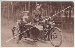 FOTOKAART CALMPTHOUT 1910 KALMTHOUT HEIDE NABIJ GRAND HOTEL CAPPELLENBOSCH KAPELLEN RUDGE MULTI MOTOR CYCLE & SIDECAR - Kalmthout