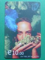 Kosovo Chip Phonecard, 10 Euro. Girl With Grape - Kosovo